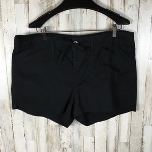 NWT Torrid Black Drawstring Cotton Blend Shorts